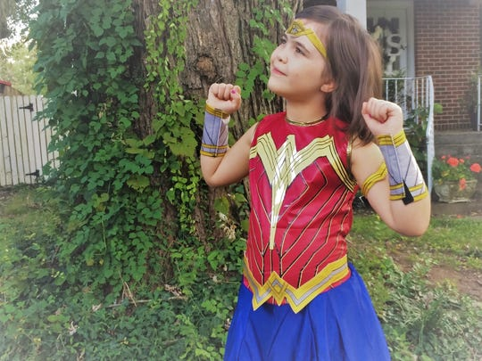 Expect Wonder Woman to be everywhere this fall. Girl's Wonder woman costume and accessories from The Party Corner.