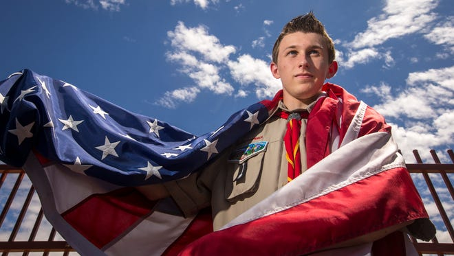 Kyle Tucker, 16, wants to place a flagpole outside his high school in Avondale as part of his path to becoming an Eagle Scout. But the project has stalled after the association in charge of the complex where his school is requested additional insurance to allow the flagpole.