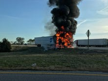 Police log: Tractor trailer fire shuts down I-81