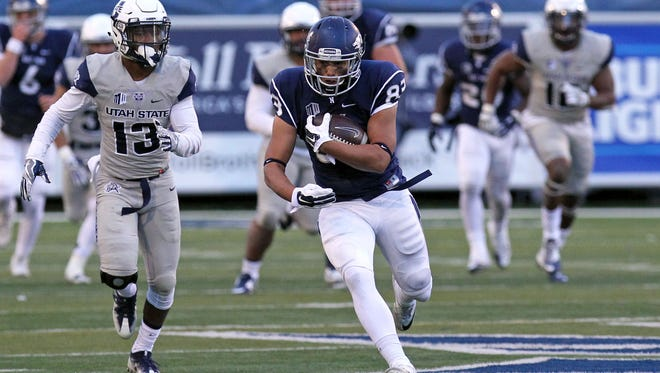 Wide receiver Andrew Celis and the Wolf Pack will open the season with Northwestern and end it with UNLV.