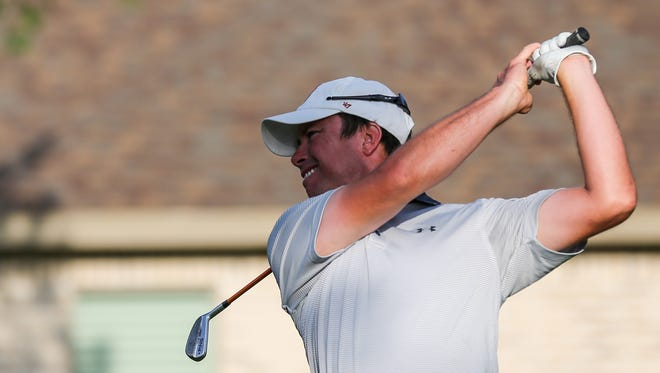 San Angelo Central High School offensive coordinator Kevin Crane (pictured) and Murray Carson opened with a 6-under par 66 Thursday to take a one-shot lead at the 2018 Bentwood Country Club men's partnership.