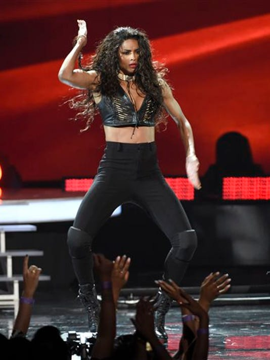 Ciara performs during a tribute to Janet Jackson at the BET Awards at the Microsoft Theater on Sunday, June 28, 2015, in Los Angeles.