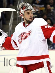 Detroit Red Wings goalie Petr Mrazek.