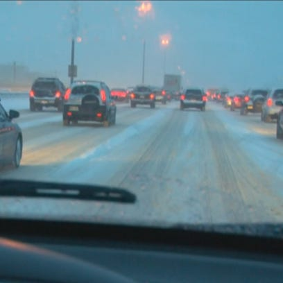 Snow moves out of the metro area overnight, according