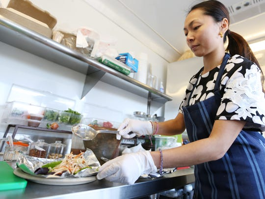 Owner Kanyanat Puthdee prepares the special at Big