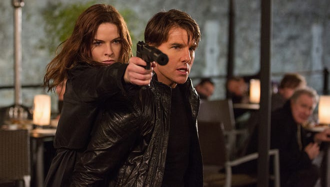 Rebecca Ferguson and Tom Cruise co-star in 'Mission: Impossible — Rogue Nation.'