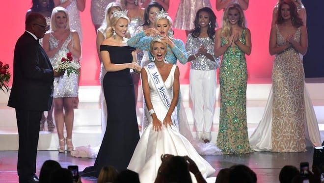 Miss Vicksburg Anne Elizabeth Buys is crowned Miss Mississippi 2017 Saturday, June 24, 2017, during the Miss Mississippi Pageant at the Vicksburg Convention Center in Vicksburg, Mississippi.