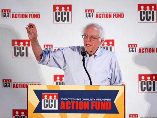 Sen. Bernie Sanders (I-Vt.) speaks Saturday, July 15,