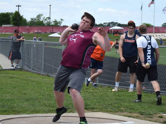 Stuarts Draft's Trevor McIntire competes in the boys