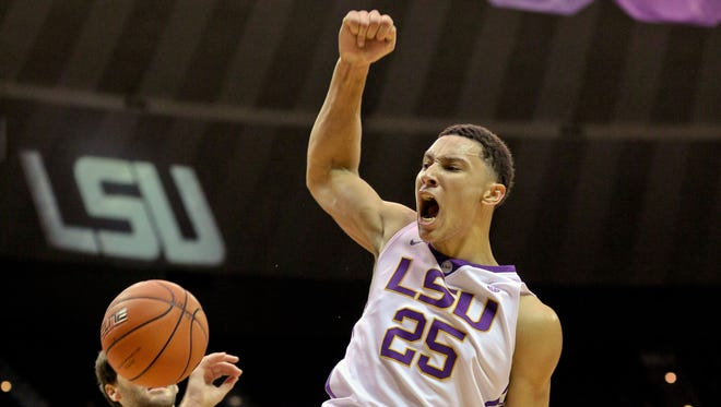 LSU Tigers forward Ben Simmons (25) is the projected No. 1 pick in this year's draft.