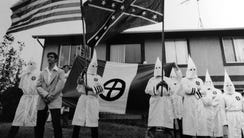 Ku Klux Klan rally at the Barnegat home of white supremacist