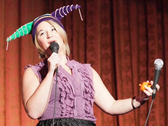 """Jessica """"The Jester"""" Levity, host of the Utility Players."""