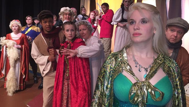 """""""Into the Woods,"""" is directed by Renee Robinson, features center newcomer Hailey Ray as the Witch; Patrick Kramer and Alexius Frost as the Baker and Baker's Wife; Emily Davis as Cinderella; and Dwayne Benn as Jack and the Beanstalk."""