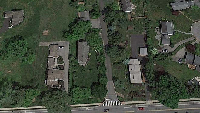 Satellite image of the properties taken on May 24, 2016.