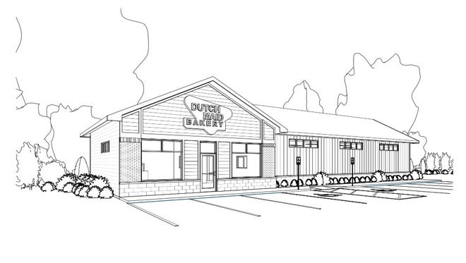 A concept drawing of the proposed new facility for Dutch Maid Bakery.