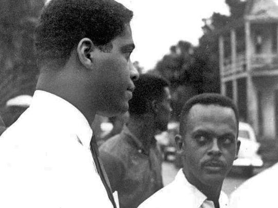 Dr. Robert B. Hayling, left, in St. Augustine, photographed