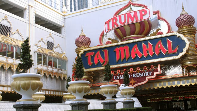 The Trump Taj Mahal Casino Resort in Atlantic City  N.J.