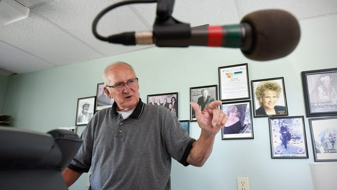 Herb Hoppe talks Wednesday, July 6 about how he founded Tri-County Broadcasting in Sauk Rapids 53 years ago.