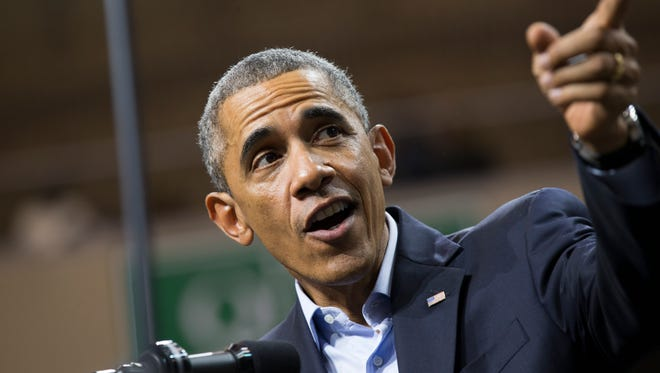 President Obama during a campaign rally earlier this month in Chicago.