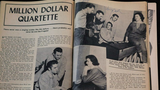 """""""Million Dollar Quartet,"""" a musical based on a jam session by Jerry Lee Lewis, Carl Perkins, Elvis Presley and Johnny Cash, will be performed by Cider Mill Playhouse next season."""