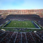 A general view of stadium during the second quarter between the Denver Broncos and the Carolina Panthers in Super Bowl 50 at Levi's Stadium.