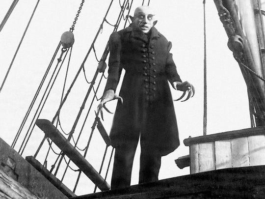 """Max Schreck stars as """"Nosferatu"""" (1922)."""