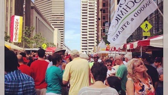 Crowds flocked to Taste of Cincinnati during Memorial Day weekend.