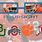 Clemson slides into the Top 4 of the FourSight College Football Playoff Poll