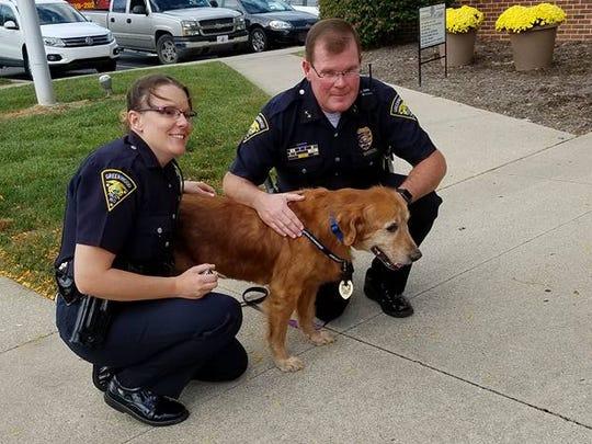 Greenwood Police Officer Kortney Burrello (left) and