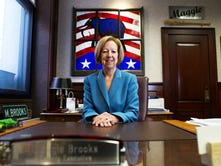 County Executive Maggie Brooks in the Monroe County Office building on Friday, October 2, 2015. Brooks is stepping down after 12 years in office.