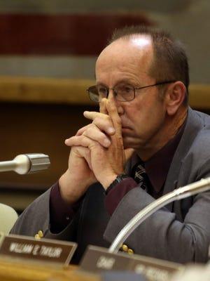Sen. Jeff Kruse, R-Roseburg, listens during a 2014 legislative committee hearing.
