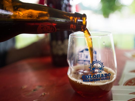 New Belgium's La Folie is poured for a patron during