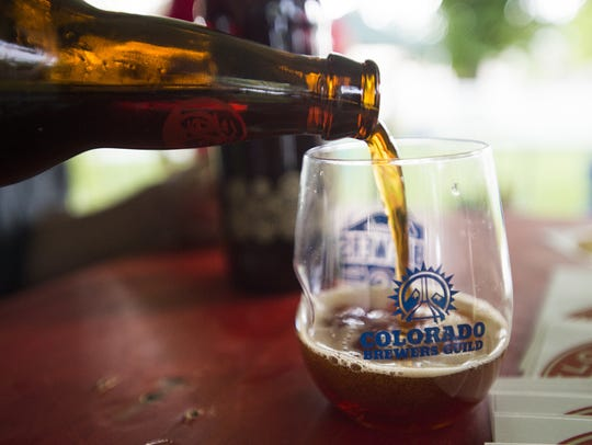 New Belgium Brewing?s La Folie is poured at the Colorado