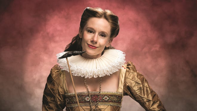 "Emily Trask, seen here in a promotional photo of ""Shakespeare in Love,"" which will be the season-opening show in the Playhouse in the Park's 2017-2018 season in the Robert S. Marx Theatre. Trask plays the leading female role of Viola in the show, which runs Sept. 2-30."