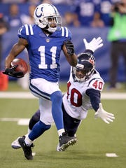 Indianapolis Colts kick returner Quan Bray (11) attempts