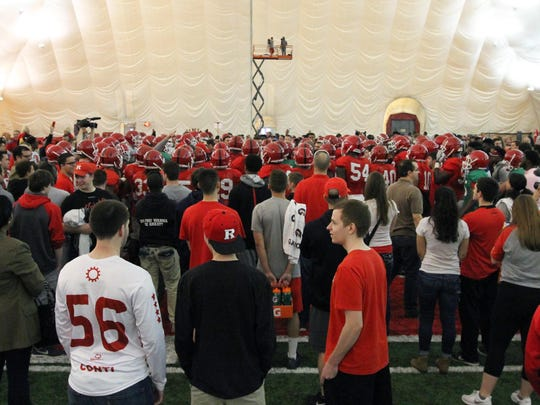 Rutgers students had an up-close view when football practice was made open for them to see as part of Student Appreciation Day.