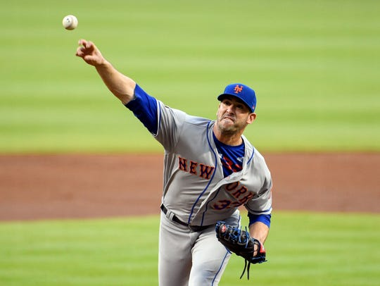 Apr 19, 2018; Atlanta, GA, USA; New York Mets starting