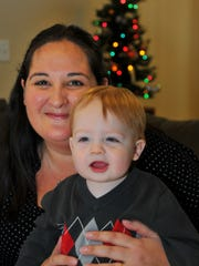 Last year's New Year's baby Nathan Starr, shown with his mother, Rachel Starr, was born at Holmes Regional Medical Center on New Year's Day 2014, Brevard's first baby of the year.
