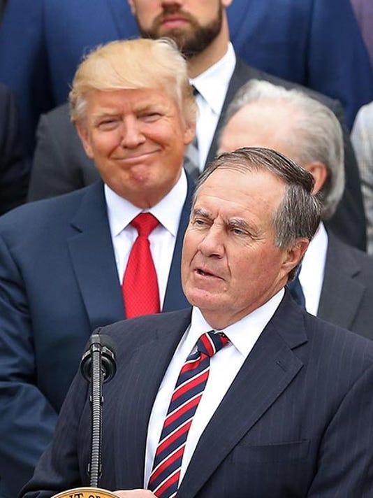 85e590642 NFL  Super Bowl LI Champions-New England Patriots White House Visit. Donald  Trump ...