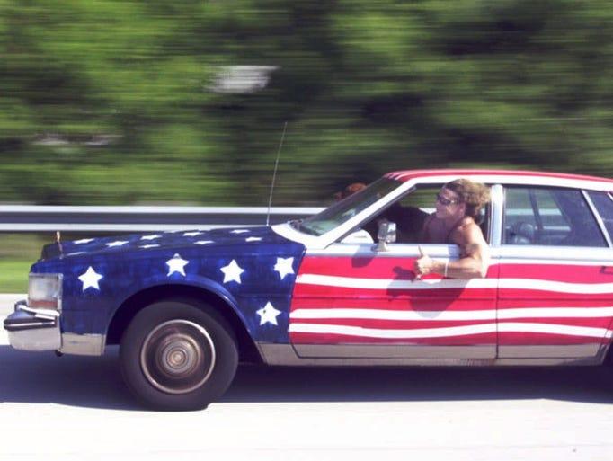 Patriotism On Wheels Cars Painted Up As American Flags
