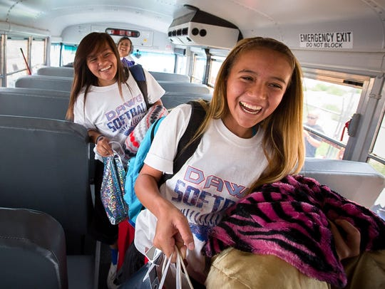 Las Cruces High School softball players 16-year-old