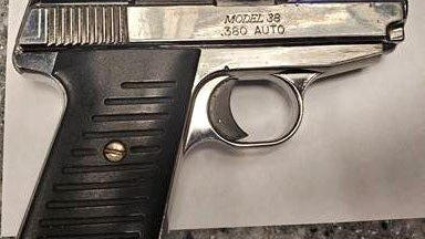 This gun was found in a Girard man's carry-on bag at Erie International Airport on Thursday.