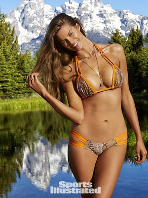 Robin Lawley poses for the 'Sports Illustrated' 2015 swimsuit issue, on sale Feb. 9, 2015.
