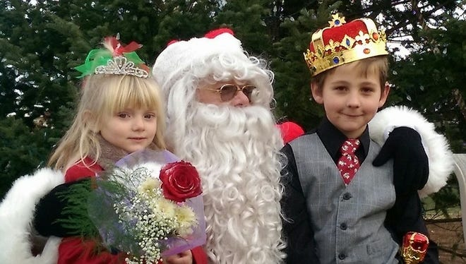 Harper Abel, left, and Connor Black, right, were named Christmas Princess and Prince during the second Christmas in the Center: A Pittsville Community Celebration on Saturday.