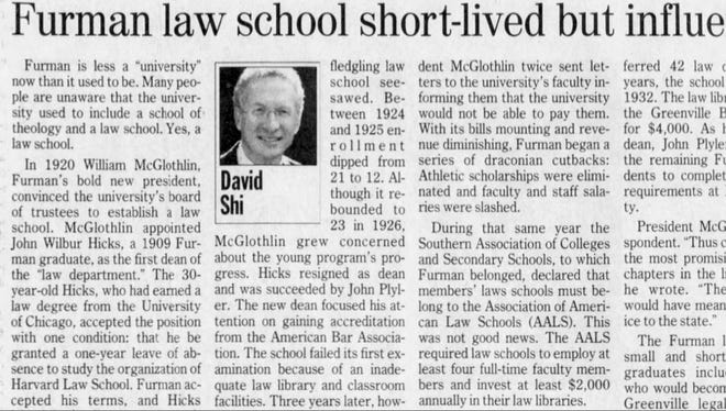 An article from The Greenville News on Oct. 9, 2005.