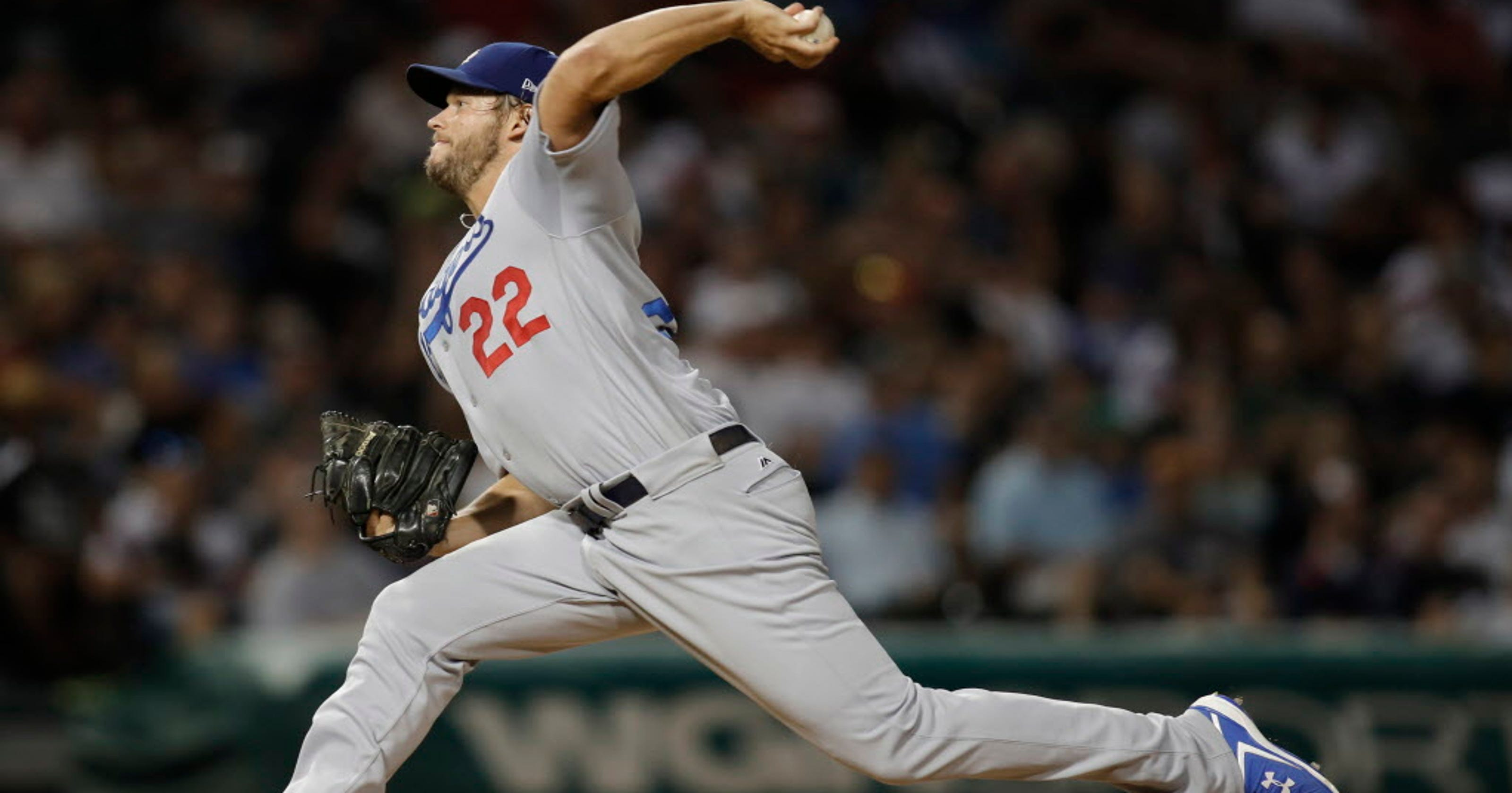 ea2b32a1f Dodgers ink 10th straight win under Clayton Kershaw s seven innings
