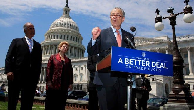 Senate Democratic leader Chuck Schumer in July 2017.