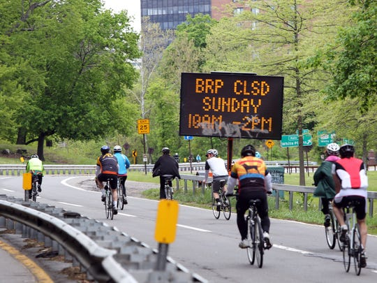 Opening day of the 43rd annual Bicycle Sundays on the