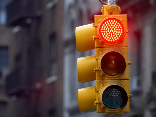 Traffic light on red.