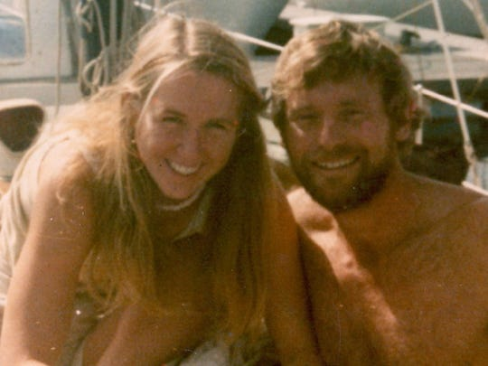 The real Tami Oldham with her fiancé Richard Sharp